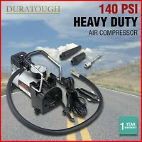 Car Air Compressor 12V Volt Pump Tyre Inflator 4WD Pressure Gauge 4x4 Deflator