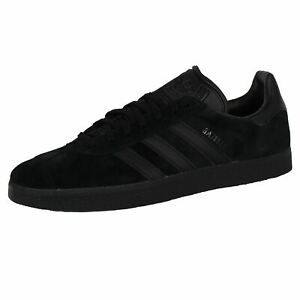 ADIDAS GAZELLE MENS CORE BLACK LEATHER TRAINERS