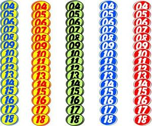 Car Lot Windshield Two Digit Oval Model Year Stickers, Small, Car Dealer EZ-226