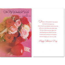 Valentine's Day Greeting Card For Wonderful Wife Brand New Lot of 2