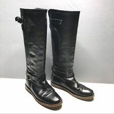 FRYE size 6 black Celia riding boots