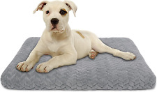 New listing Aiperro Dog Bed Crate Pad with Removable Washable Cover, Non Slip Soft Plush Pet