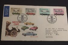 1982 Motor Cars British First Day Cover Addressed Opened Rolls Royce