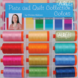 THREAD Aurifil PIECE AND QUILT COLLECTION ~ COLORS 12 - 1422 yd spools 50 wt