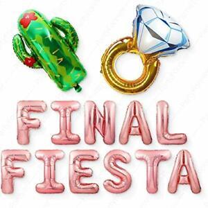 "Big Rose Gold""Final Fiesta"" Balloons Bachelorette Party Decorations Kit Bridal S"