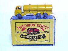 MATCHBOX Lesney No.11a ERF BENZINA CISTERNA IN tipo 'B1' Scatola MOKO (Giallo scuro in buonissima condizione)