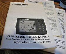 Lawrence X125, X126Df, X135, X136Df Operation Instructions Manual