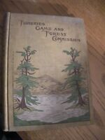 Vintage Fisheries Game and Forestry Commission Report 1899, Trudeau, Adirondacks