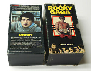 THE ROCKY SAGA I II III VHS 1st CBS FOX Box Set TESTED Sylvester Stallone 1 2 3