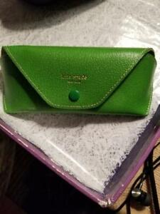 Green Kate Spade Faux Leather Sunglass Case Small