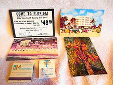Vintage Florida Souvenir Travel Postcards Match Thunderbird Montmartre Tradewind