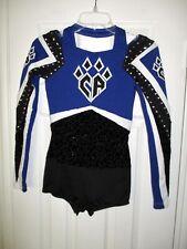 Cheer Athletics Black Rhinestone Cheerleading Uniform + Skirt Varsity AS XS S