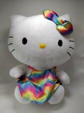 "2014 TY Hello Kitty Rainbow Metallic Satin Tie Die Dress and Bow 11"""