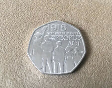 Representation Of The People Act 1918 - 50p Fifty Pence coin - Uncirculated