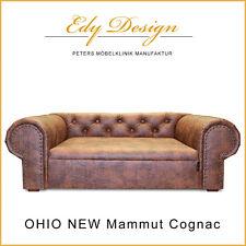 Sofá para perro OHIO Nuevo Chesterfield ANTIGUO Mammut Coñac XL Cama Handmade -