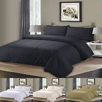 Duvet Cover with Pillow Case Pintuck Pleated Quilt Cover Bedding Set All Sizes