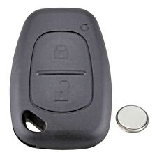 Renault Trafic Master 2 Button Remote Key Fob Case Service Kit + Battery