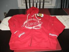 MENS CINCINNATI REDS MITCHELL & NESS  HOODIE RED  L LARGE   NWT