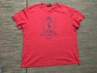 Polo Ralph Lauren Men's Large Graphic Tee T Shirt Cotton Red Short Sleeve
