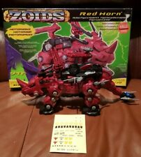 Zoids Red Horn #004 Hasbro Motorized 1/72 Scale Unused Stickers Original Box