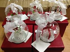Kringle Express Set of 5 Illuminated Glass Ornaments with Gift Boxes H200282