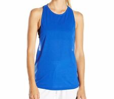 Adidas Women's Performer Training Tank Top Drop Armholes Bold Blue Size 2XL