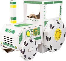 Spielhaus Traktor Trecker aus Bastelkarton ca.123 x 69 x 90 cm  zum Basteln