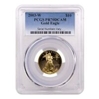 2003 W 1/4 oz $10 Proof Gold American Eagle PCGS PF 70 DCAM