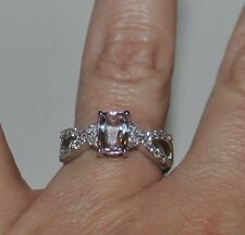 CLOSING SUNDAY    NEW!! Mawi Kunzite & White Topaz Sterling Silver Ring Size 9