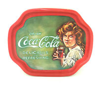 Vintage 1989 Drink Coca Cola Lady Delicious and Refreshing Tin Plate 1120A