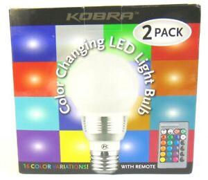 2 pack KOBRA Remote Control 16 Color Smart Dim Room Party LED Bulbs USA SELLER