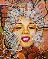 Javier Martinez Monroe 20X16 Acrylic on Canvas Cuban Art Original Painting 2017