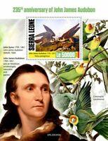 Sierra Leone Birds on Stamps 2020 MNH John James Audubon Ornithologist Art 1v SS