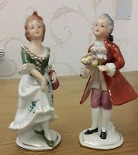 More details for s under crown mark germany carl sheidig  porcelain figurines man & woman couple