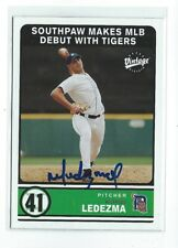 Wil Ledezma Signed 2003 Upper Deck Vintage  Card #311