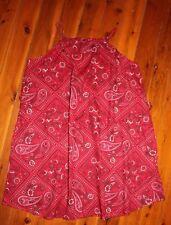 NWOT GAP Red Bandana Print Summer Dress Size 12.5