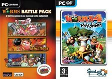 Worms Battle Pack - Worms 2,Worms Armageddon& Worms World Party & worms 4 mayhem