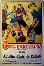 FC F.C. Barcelona Metal Sign Plaque 3d Shaped Domed Tin Sign 20 x 30 cm