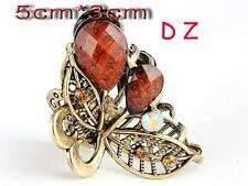 t626637 Fashion Brown Crystal Flower crab Hair Crab clamp claws Clip hairpin