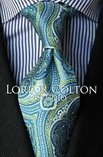 Lord R Colton Studio Tie - Greek Blue & Lime Tapestry Necktie - $95 Retail New