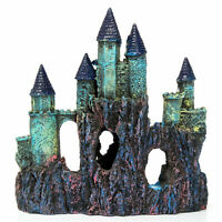 Aquarium Castle Resin Artificial Building Fish  Landscaping Decor DEL