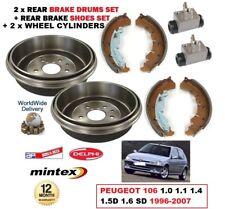 arrière freins à tambour Chaussures cylindre Peugeot 106 1.0 1.1 1.4 1.5D 1.6 SD