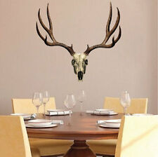Deer Antler Wall Decal Mural Skull Hunting Wild Animals Removable Wall Art, a09