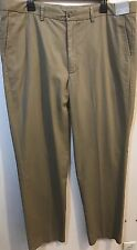Nordstrom Men's Dress Pants Trouser Wrinkle Free 100% Cotton Size 40 X 32 Sand