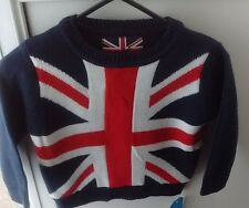 PRIMARK REBEL UK UNION JACK FLAG JUMPER SWEATER 2/3YRS-BNWT