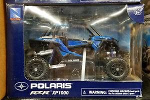 NIB New-Ray Polaris RZR XP1000 side-by-side ATV Blue 1:18 diecast model