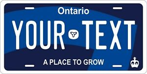 Ontario 2019 Canada License Plate Personalized Car Bike Motorcycle