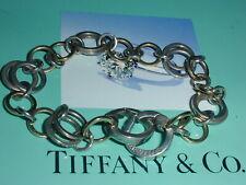 VINTAGE Tiffany & Co 18k Gold and 925 Sterling Silver Circle Link Bracelet-RARE!