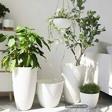 New listing Planters Flower Pots - 9.4 Inch Planter Pot Containers, White, Honeycomb