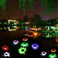 👊Solar Powered LED Lotus Flower Light Floating Fountain Pond Garden Pool Lamp